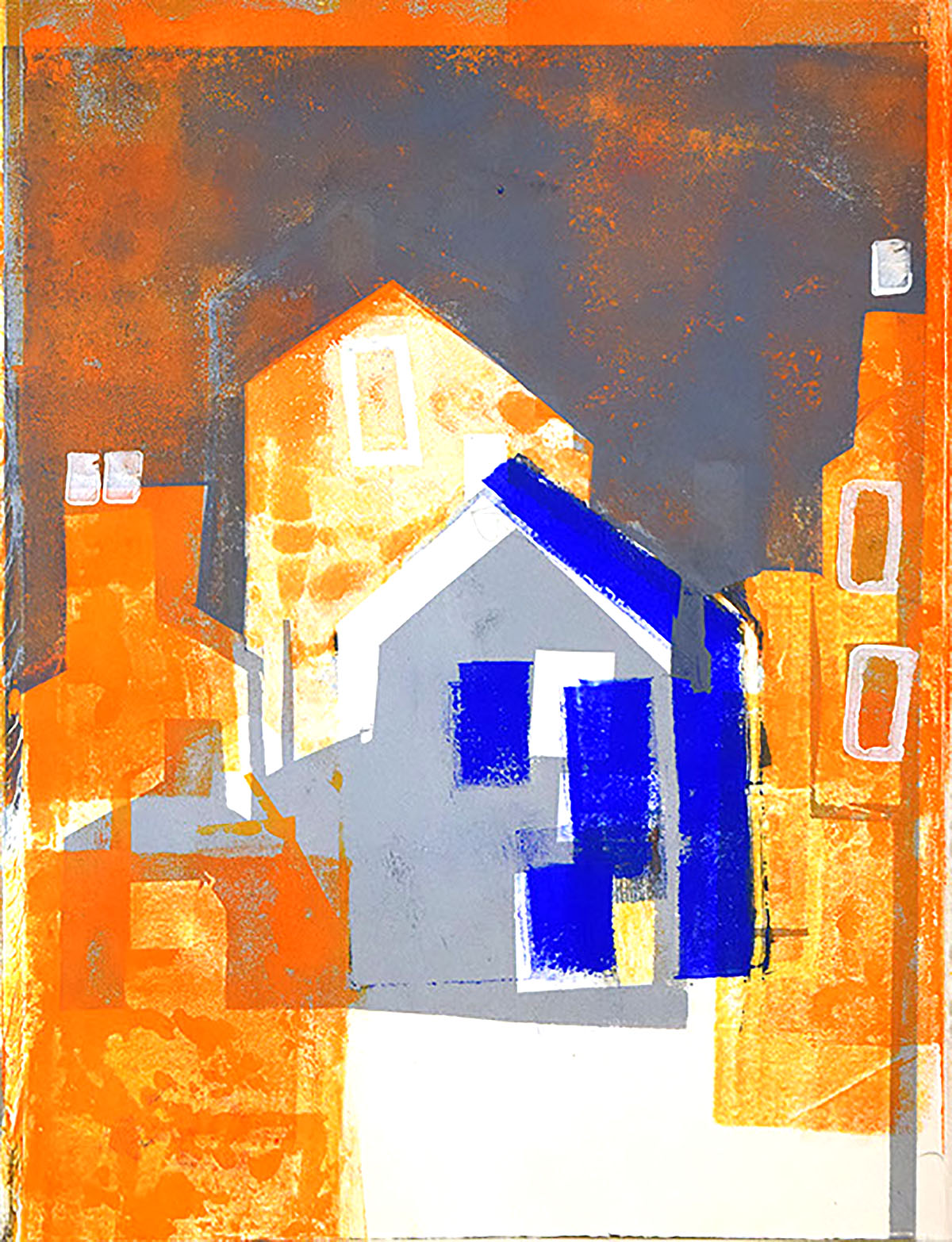 Lynda Wilson , 'Stromness', monoprint