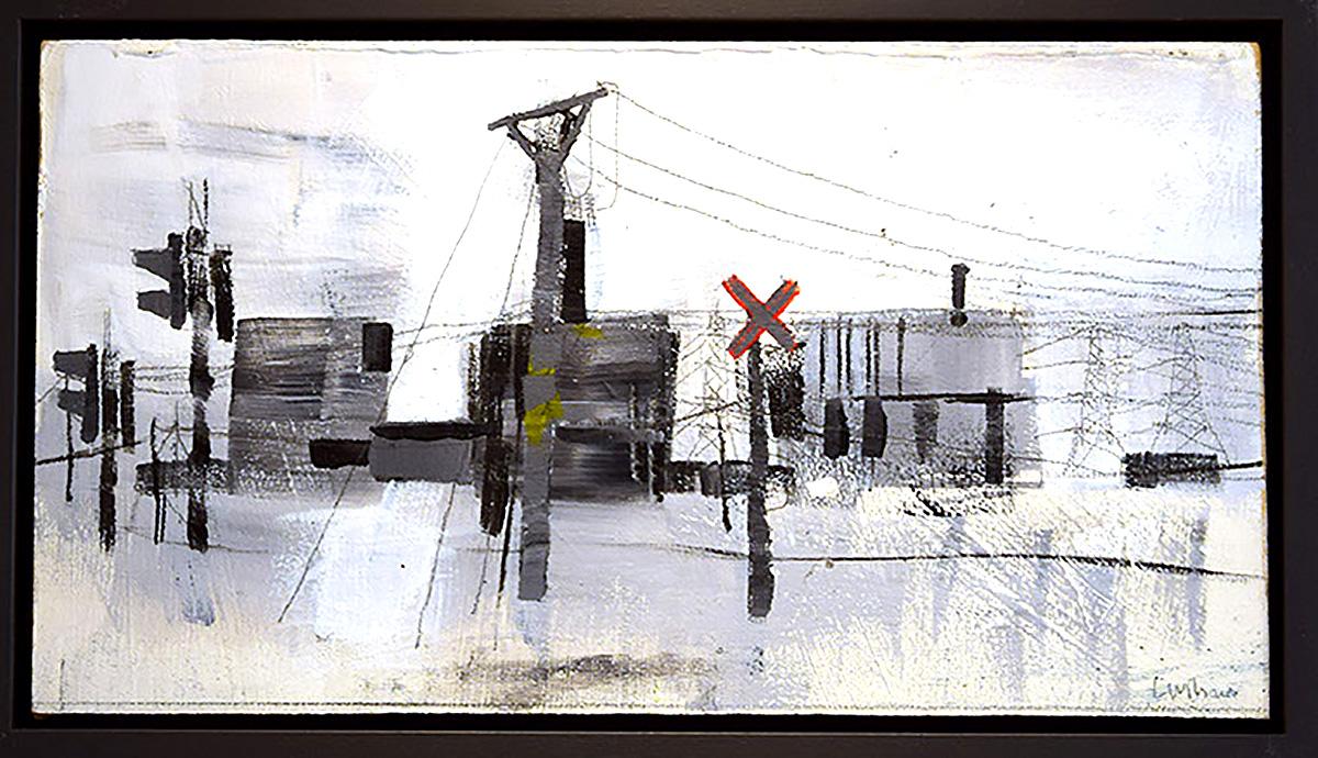 Lynda Wilson , 'Level Crossing', acrylic on board