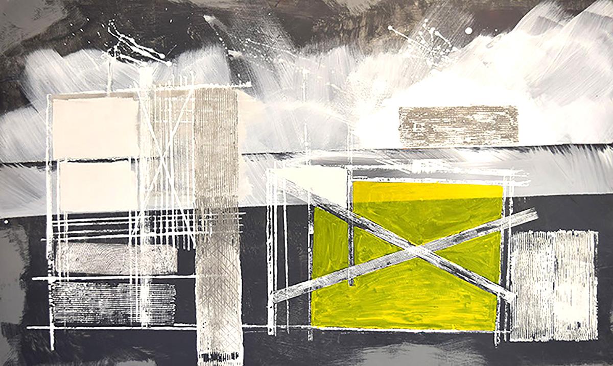 Ron Wilson, Yellow/Rectangle/White Lines, Seascape'