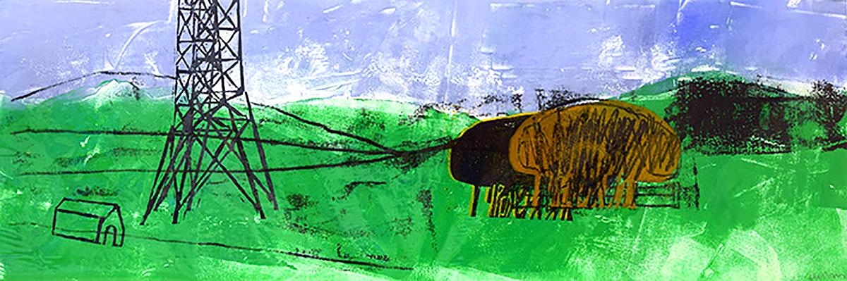 Lynda Wilson , 'Pentland Hills', monoprint