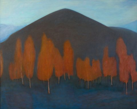 Jane Macneill, 'Red Birches (Carn Eilrig)', oil on board