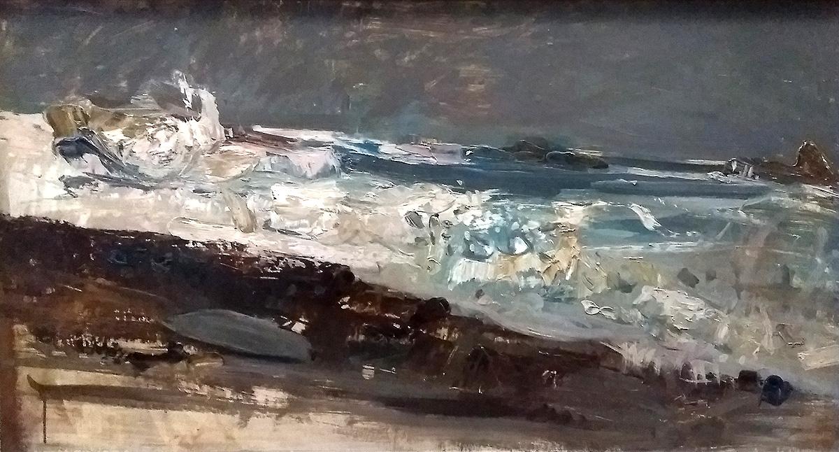 Joan Eardley, 'A Wave Study', oil on board