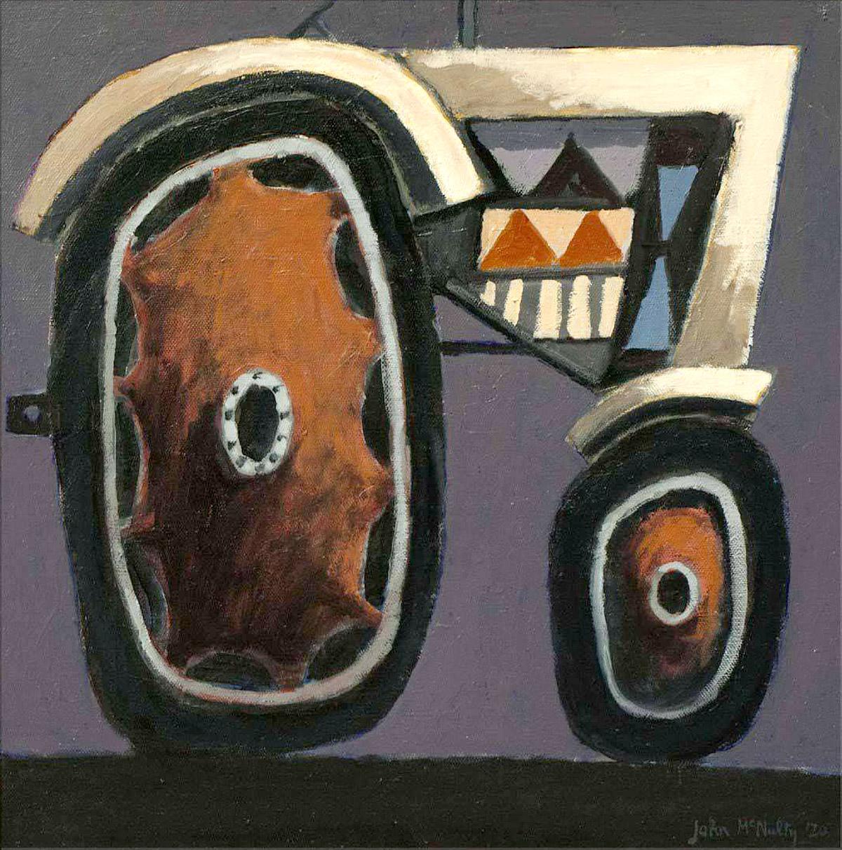 John McNulty, 'Fairground Tractor', oil on canvas
