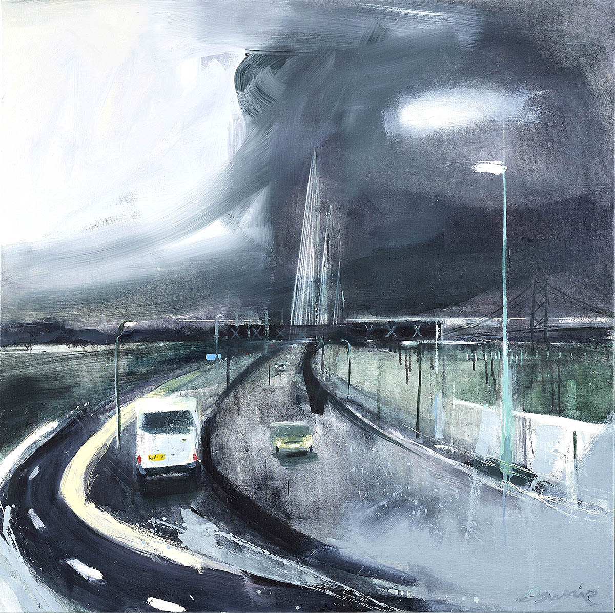 Kate Downie, 'New Day Crossing', oil on canvas