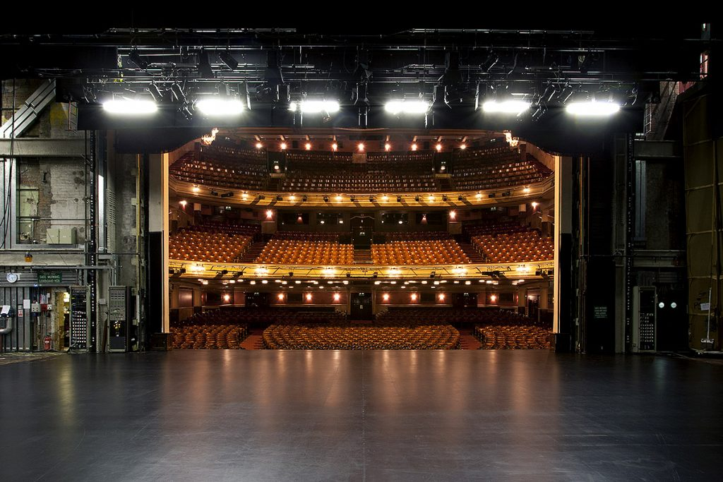 Image: Backstage at the Festival Theatre looking towards the empty auditorium - Capital Theatres