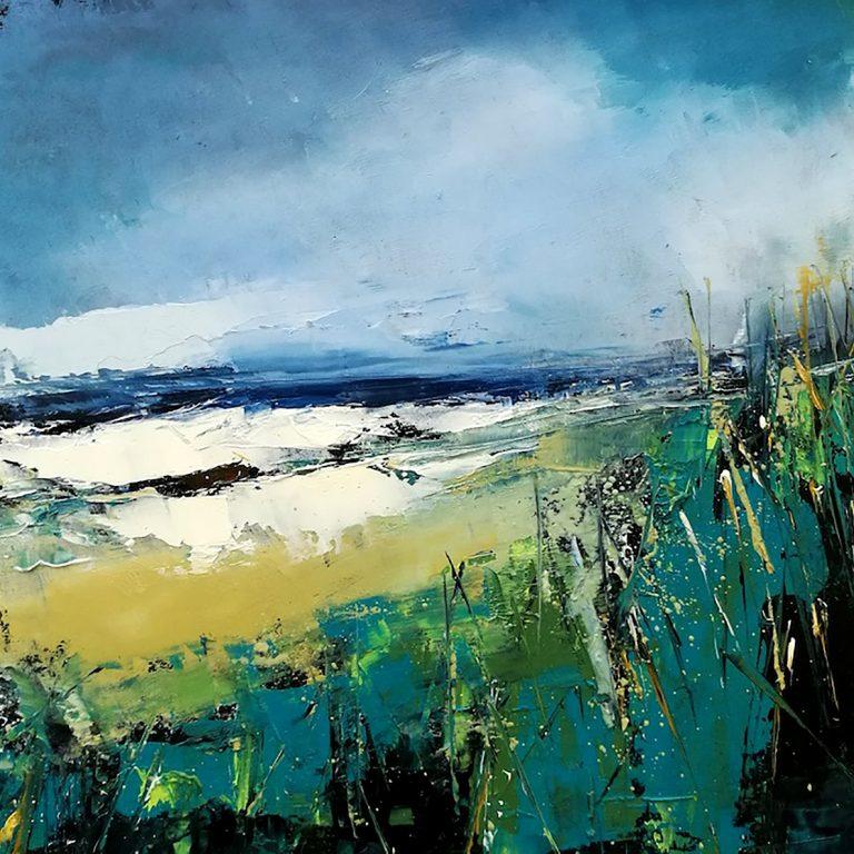 Ian Rawnsley, 'Moray, High Tides', oil on board