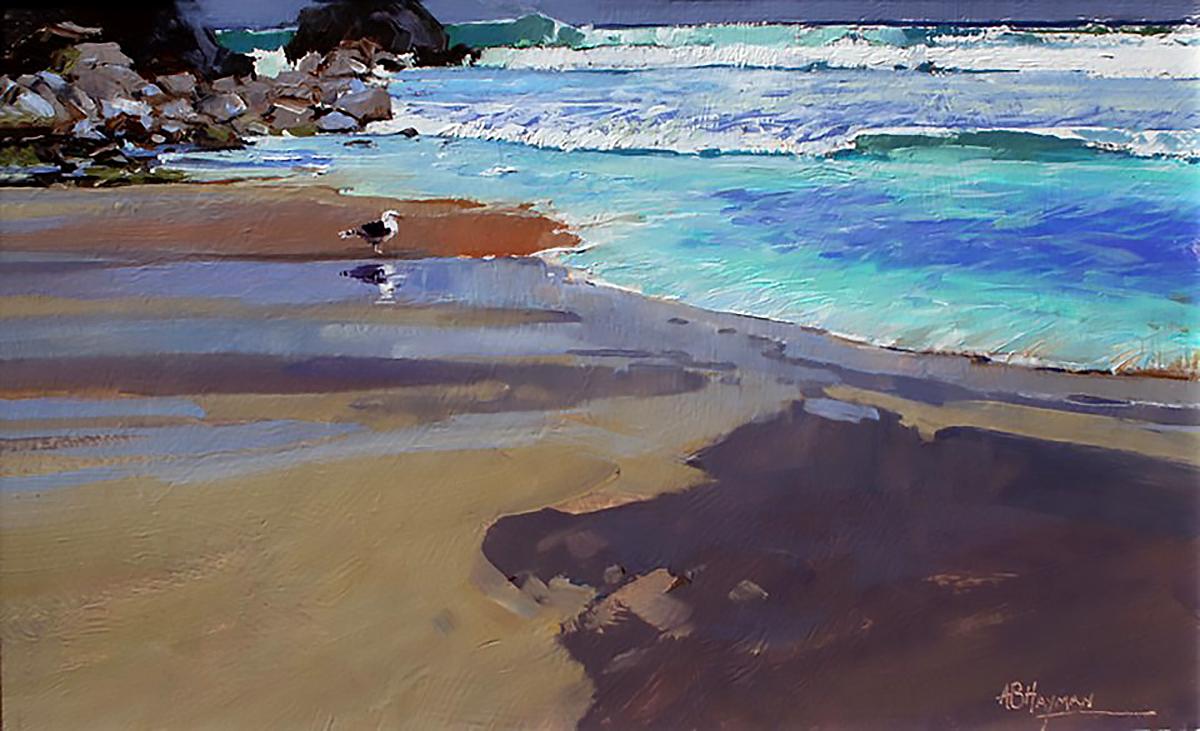 Alan B Hayman, 'Black Back', oil