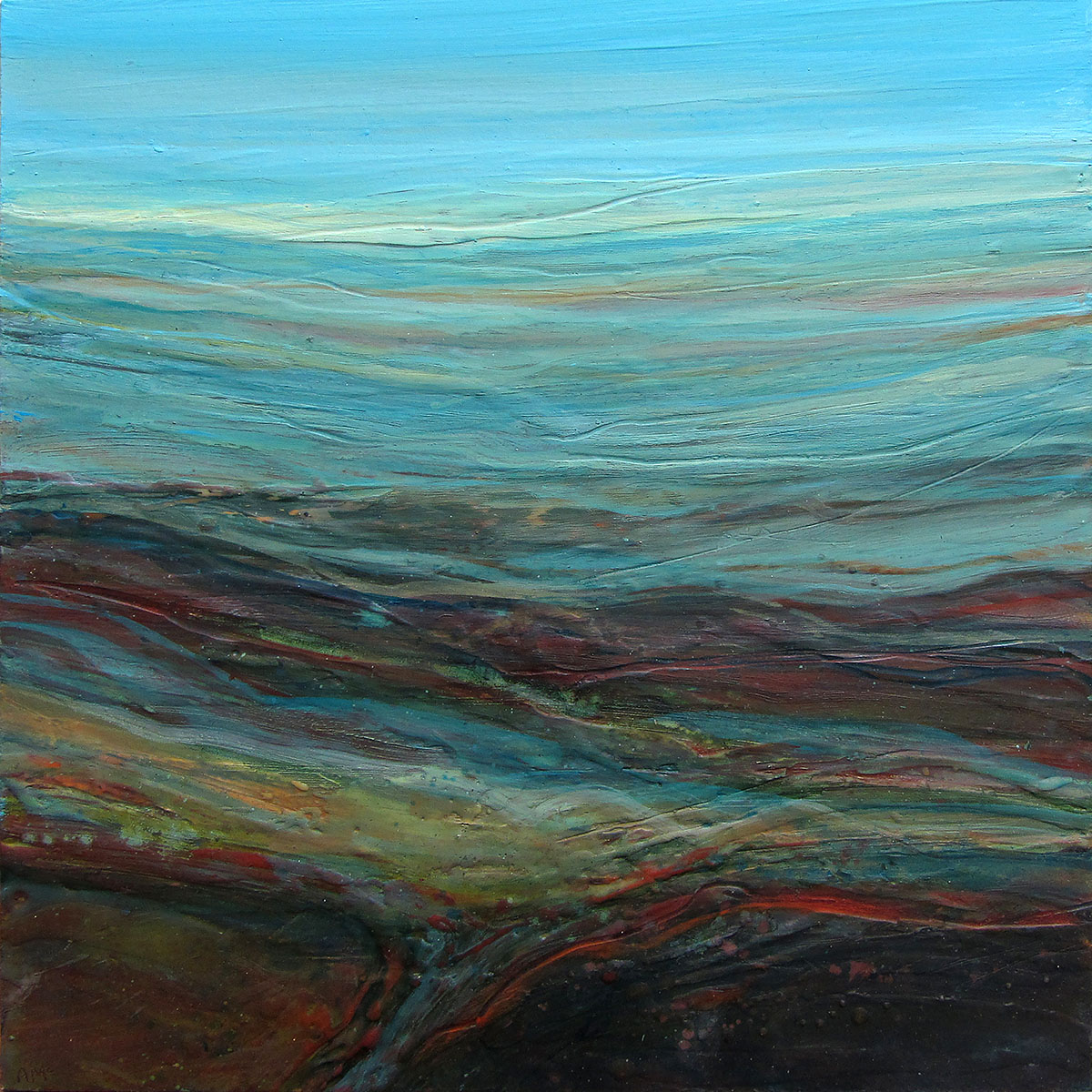 Alison McGill, 'Across the Land', oil and wax on board