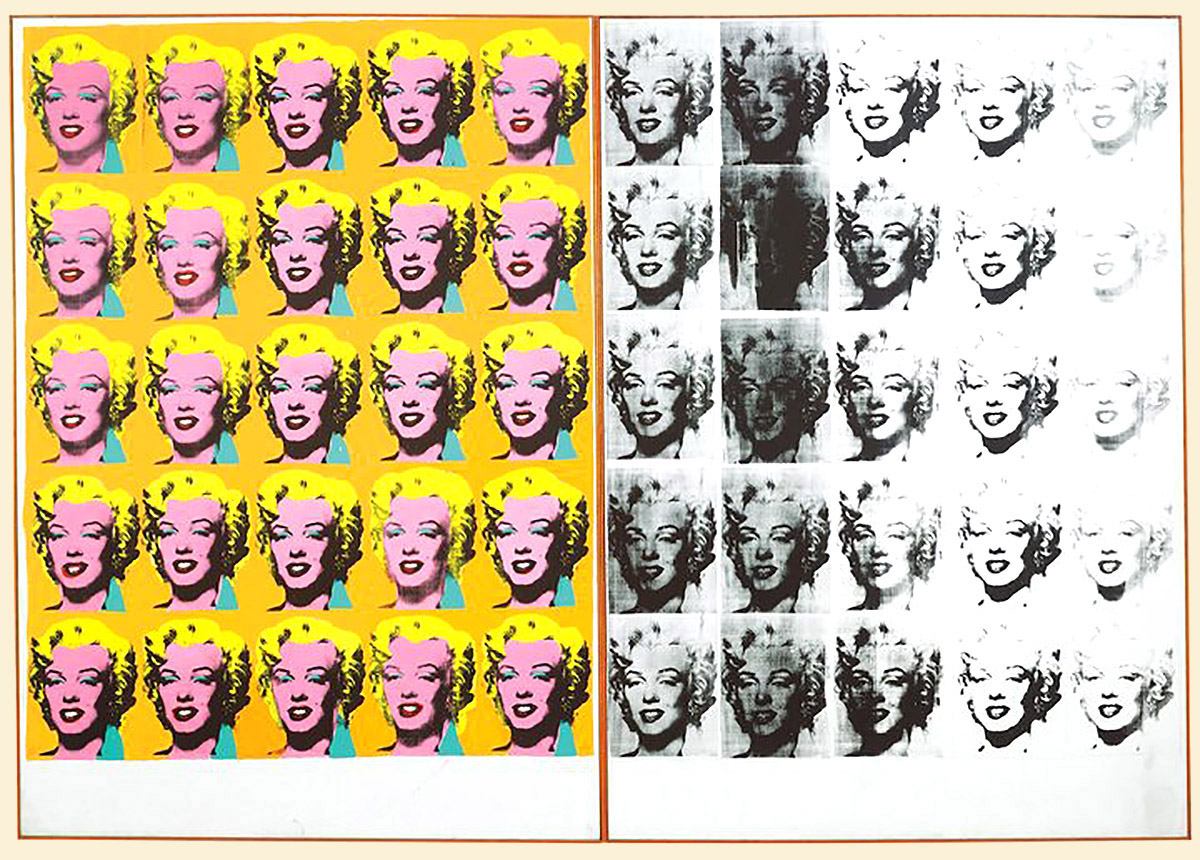 Andy Warhol, 'Marylin Diptych', acrylic on canvas