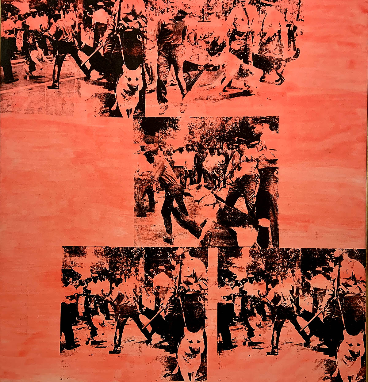 Andy Warhol, 'Pink Race Riot', Silkscreen ink and acrylic on linen