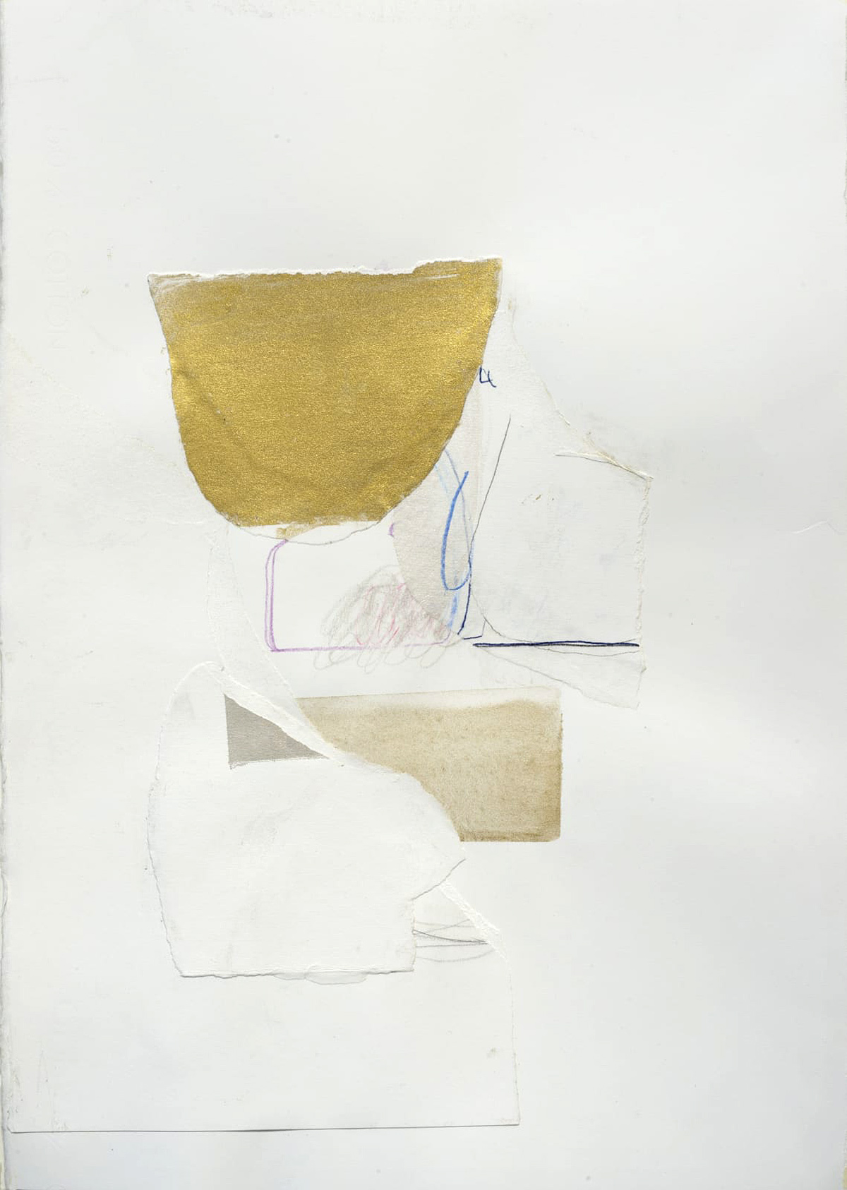 Ele Pack, 'Of Golden Air', mixed media on paper