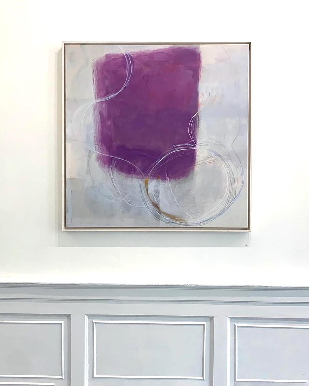Ele Pack, Verona, mixed media on canvas, in situ
