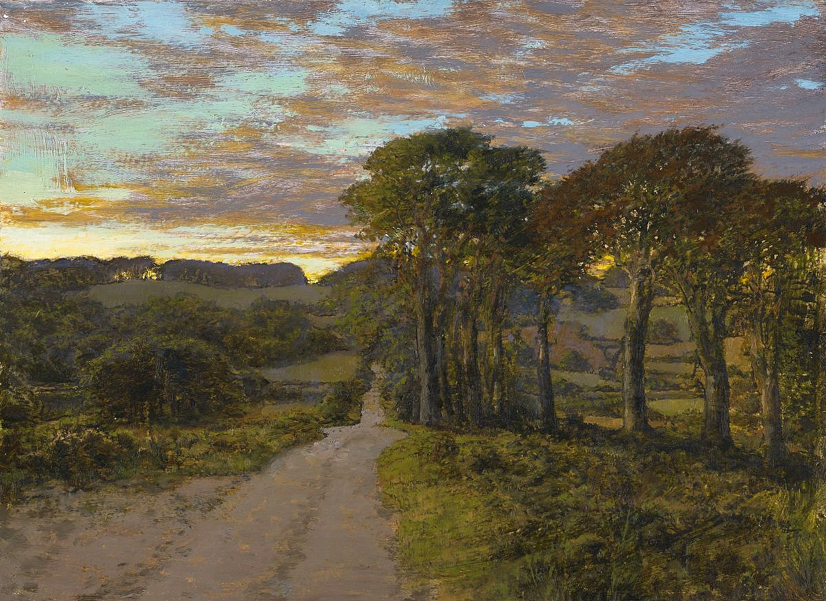 Martin Greenland, 'Evening Landscape', oil on paper