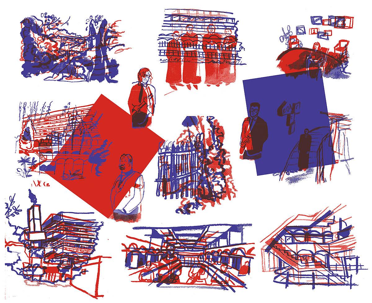 Rafaelle Fillastre, 'Wallpaper Project On Abandoned Buildings'