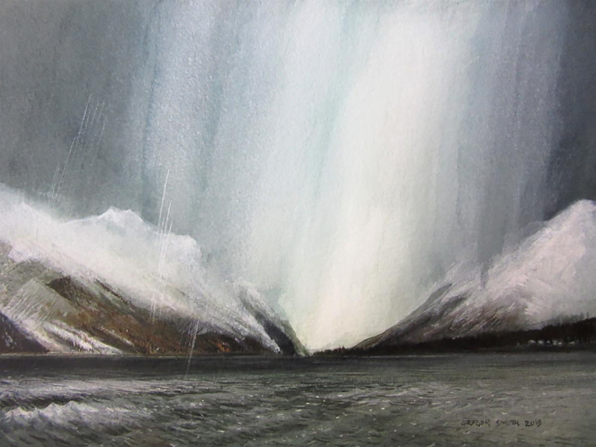 Gregor Smith RSW, 'Loch Long', watercolour