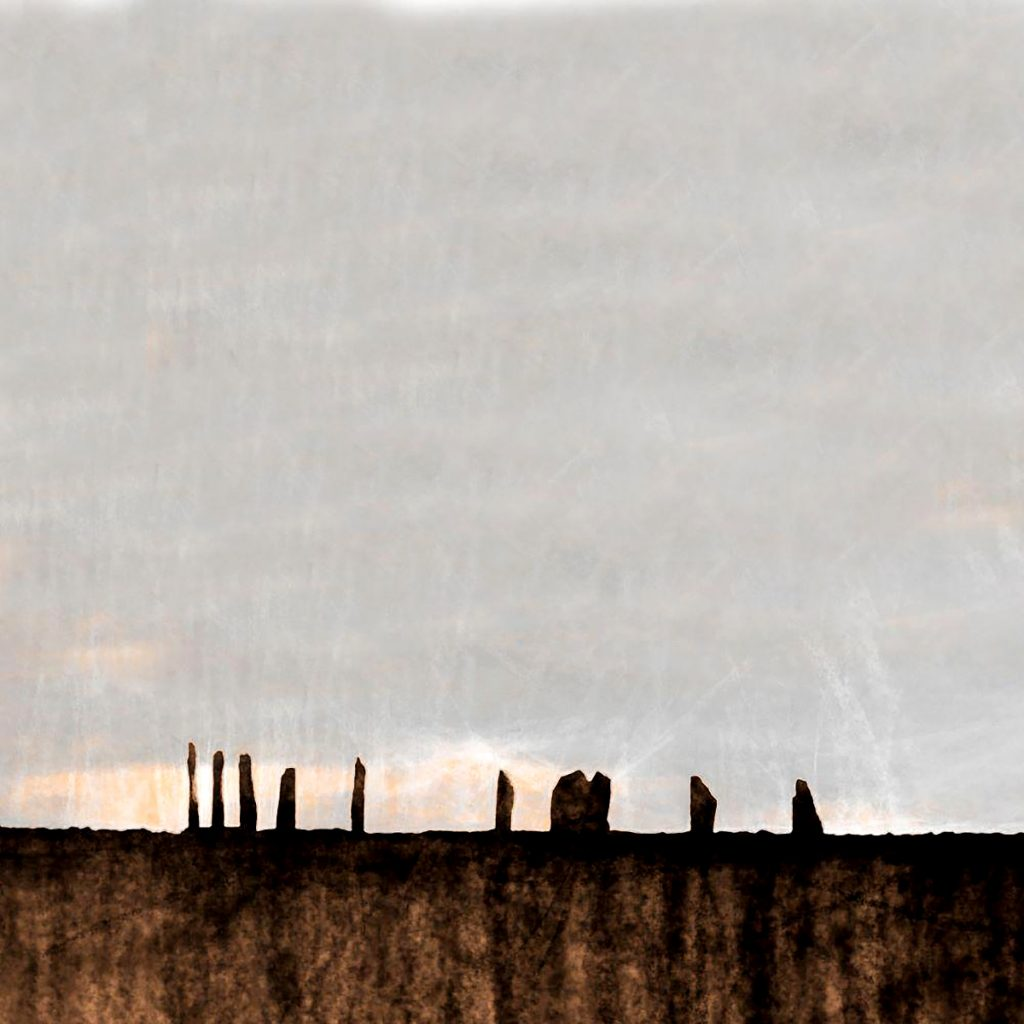 Ian Ledward, 'Sunrise Ring of Brodgar Orkney', mixed media