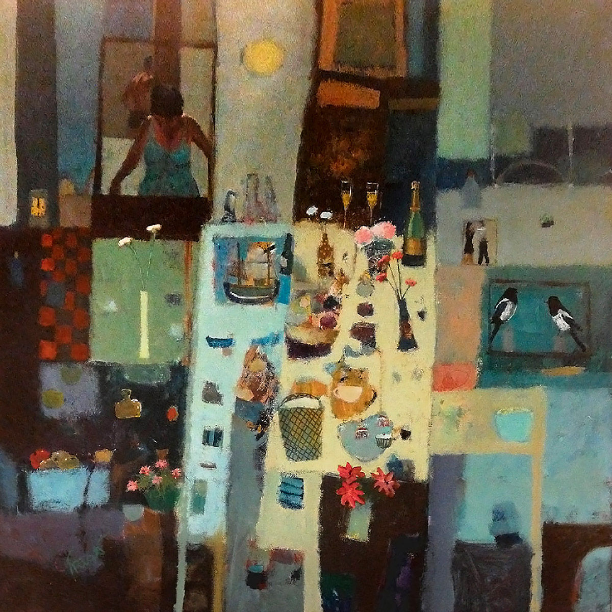 James Fraser RSW, 'No Troubles Lots of Bubbles', mixed mediaJames Fraser RSW, 'No Troubles Lots of Bubbles', mixed media