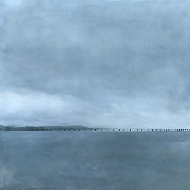 Janise Yntema, 'Tay Bridge', beeswax, resin, pigment and digital imagery on panel