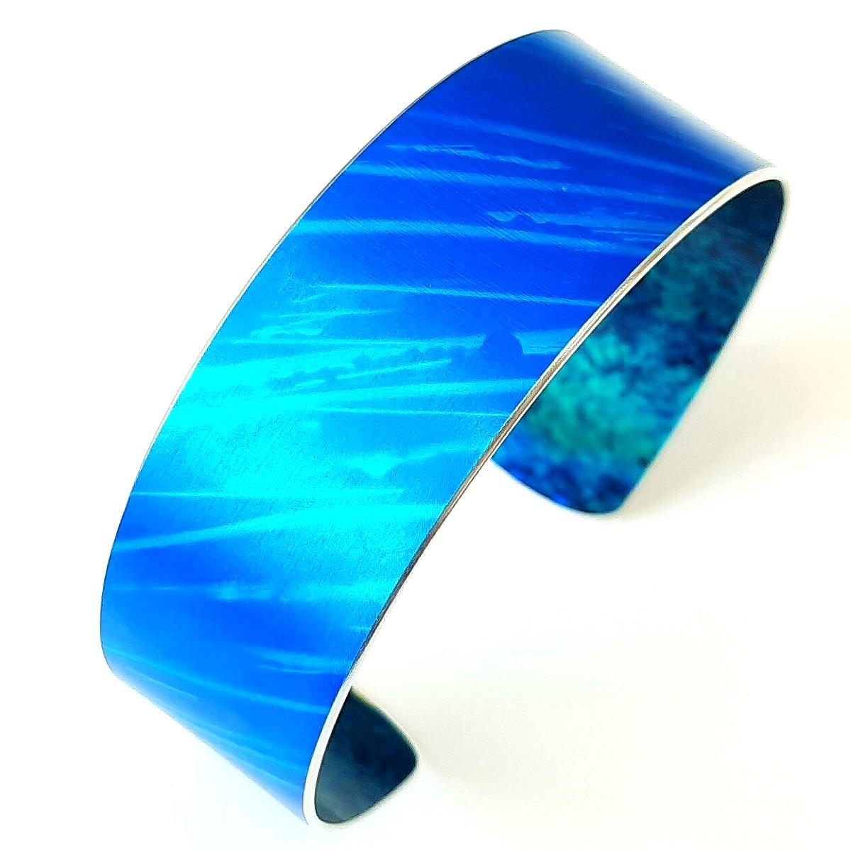 Jenna McDonald, 'Blue 2cm cuff', anodised aluminium