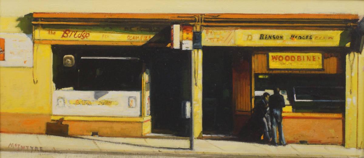 Joe-McIntyre, 'Logie Street, Dundee' oil on canvas panel