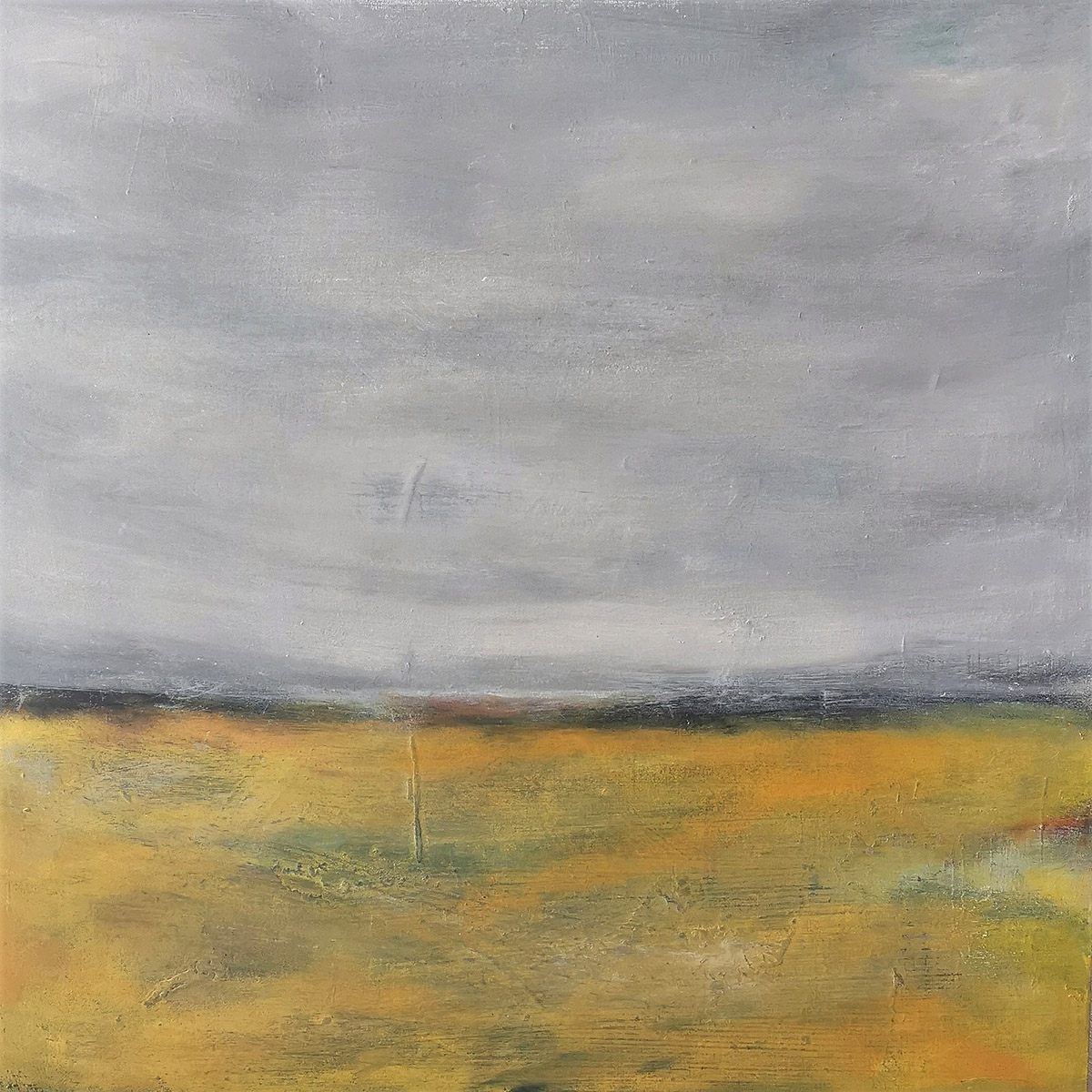 Kirstin Heggie, 'Over the Yellow Fields', acrylic on board