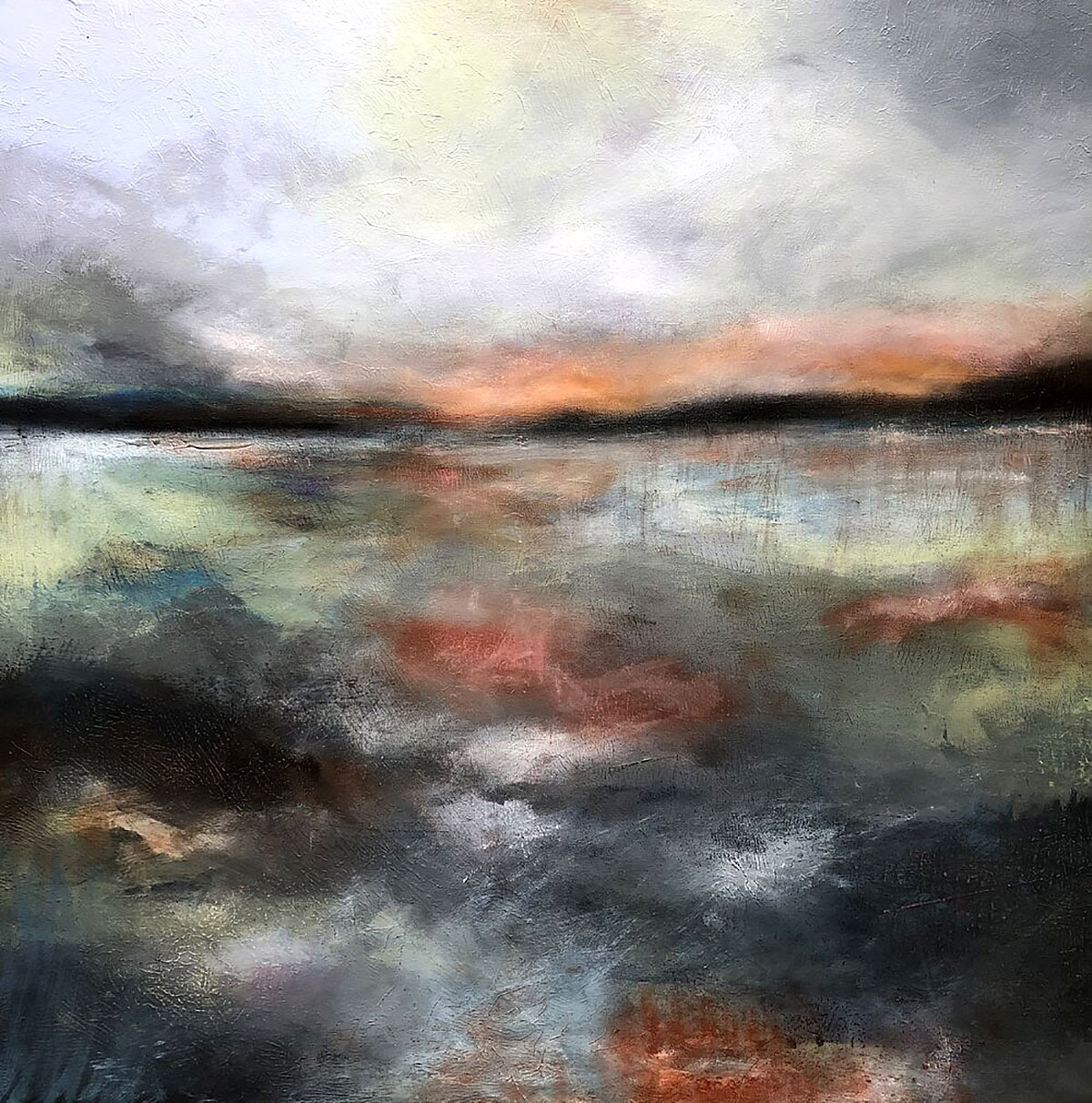 Kirstin Heggie, 'Stormy Skies', acrylic and oil bar on board
