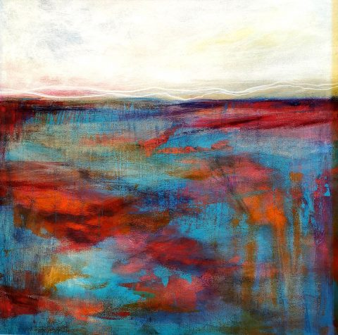 Kirstin Heggie, 'Summer Seas', acrylic on board