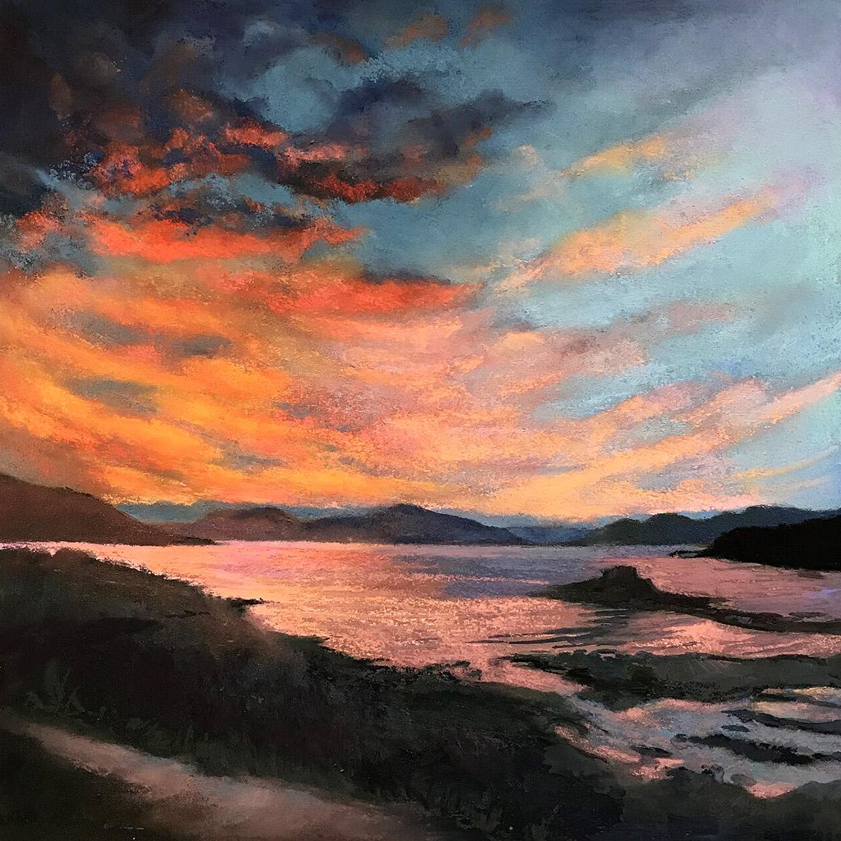 Margaret Evans, 'Night Skye in Motion', pastel and gouache