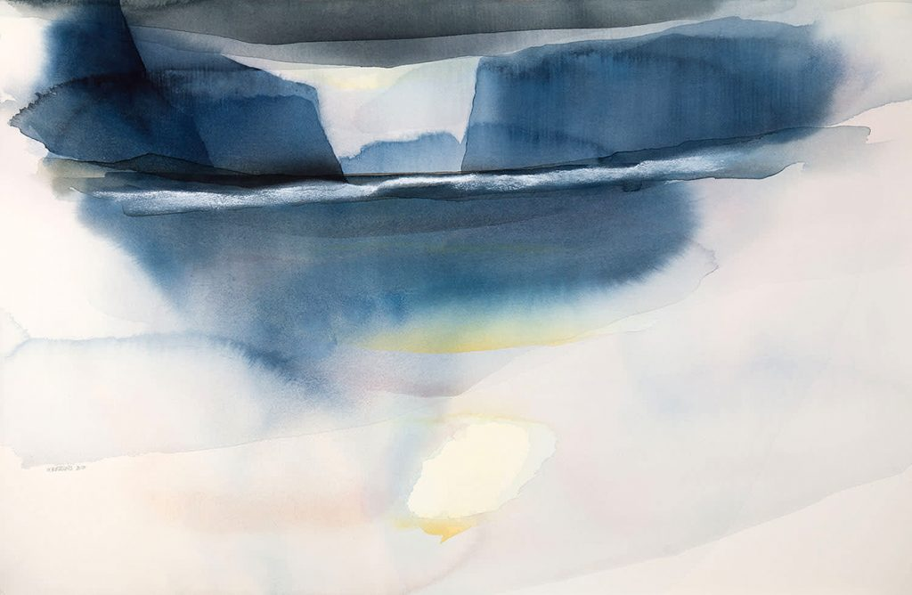 Peter Davis, 'Gllisk', watercolour and chalk rubbing