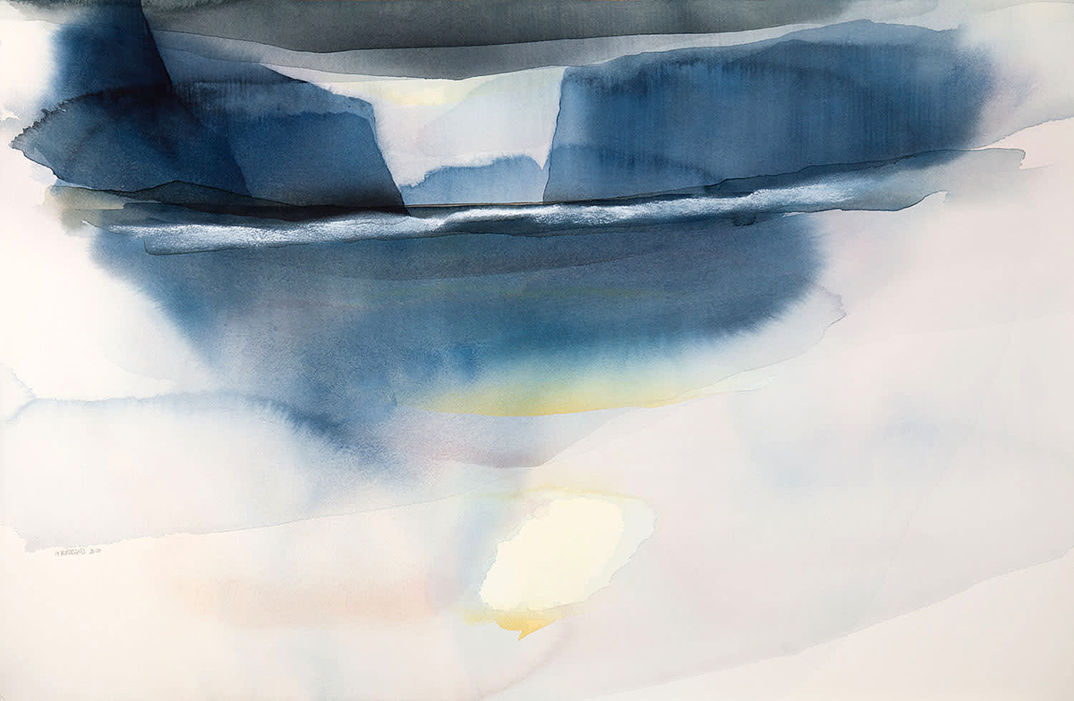 Peter Davis, 'Gllisk', watercolour and chalk rubbing
