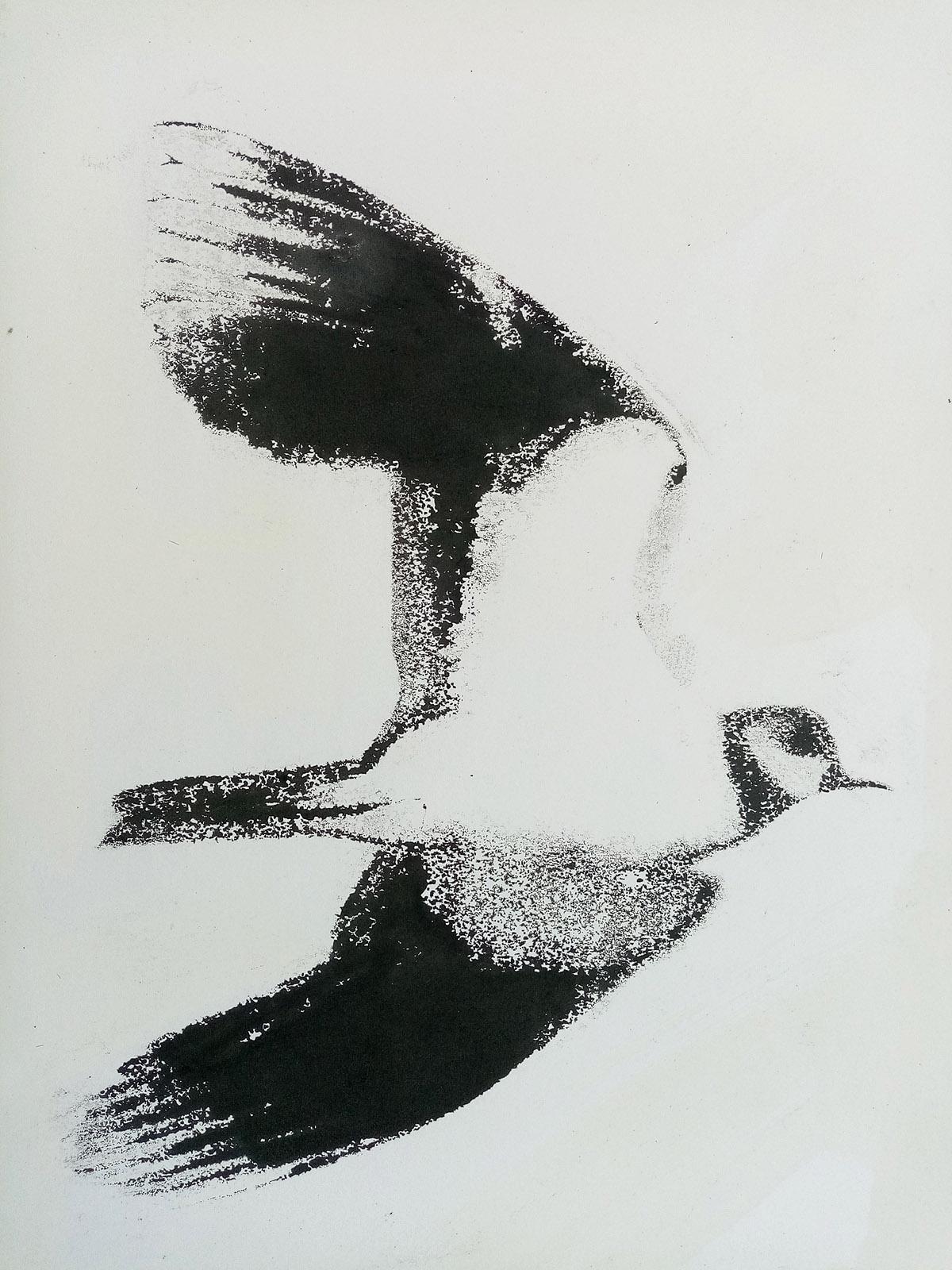 Susie Hunt, 'Plover', monoprint