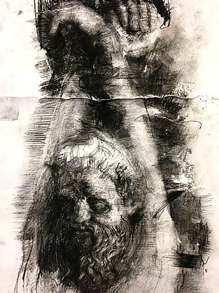 Ross Miller, 'Uffizi Figure Study', charcoal