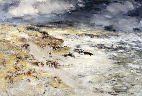 William McTaggart, 'The Storm', oil on canvas