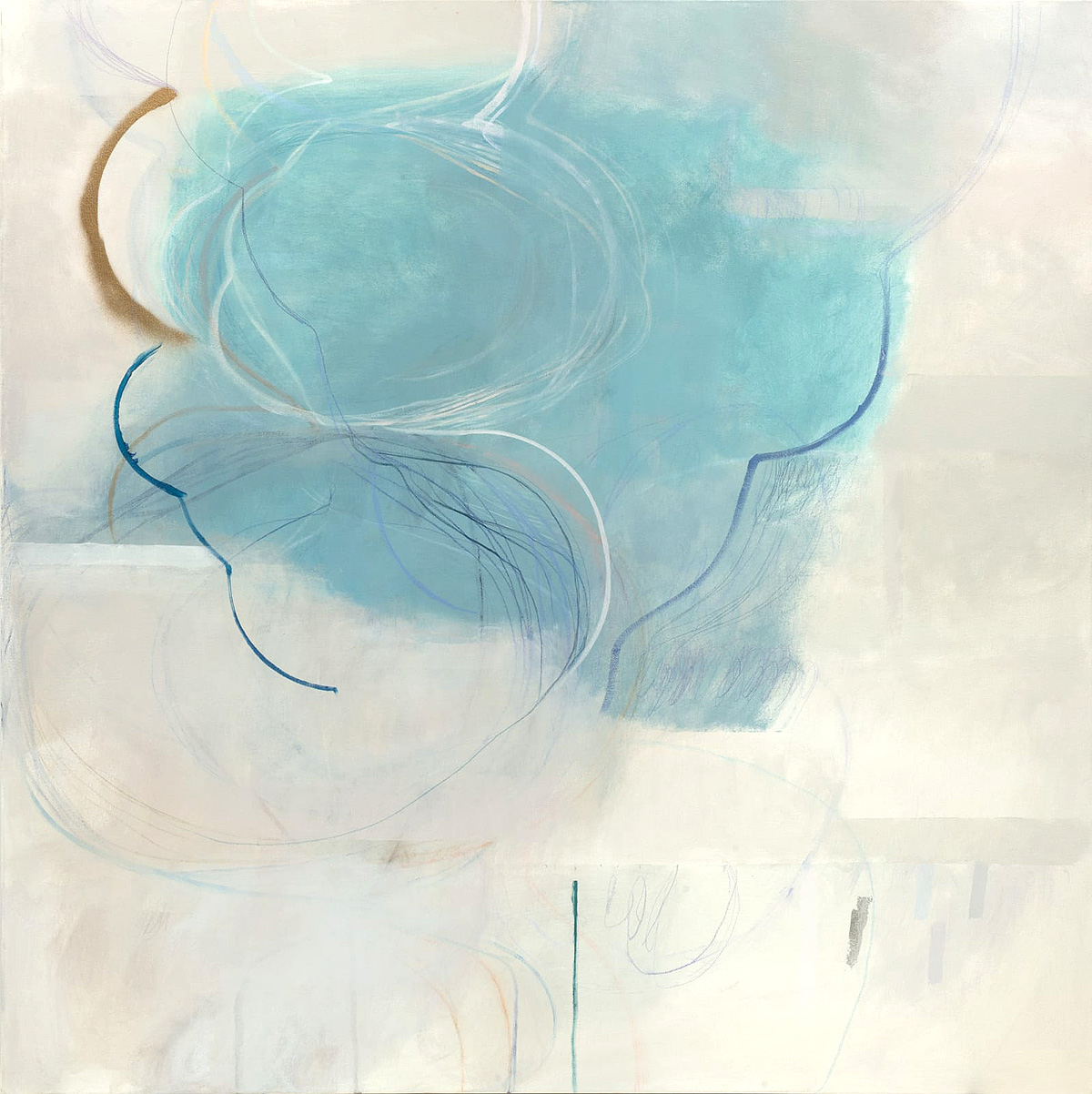 Ele Pack, 'Made of Air', mixed media on canvas