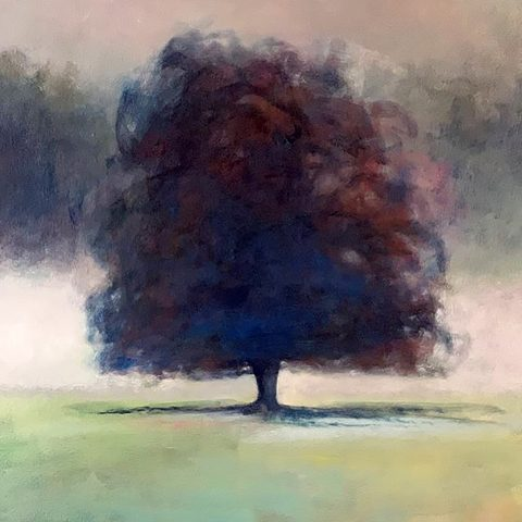 Claire Beattie, 'Hazy Misted Morning', oil on canvas
