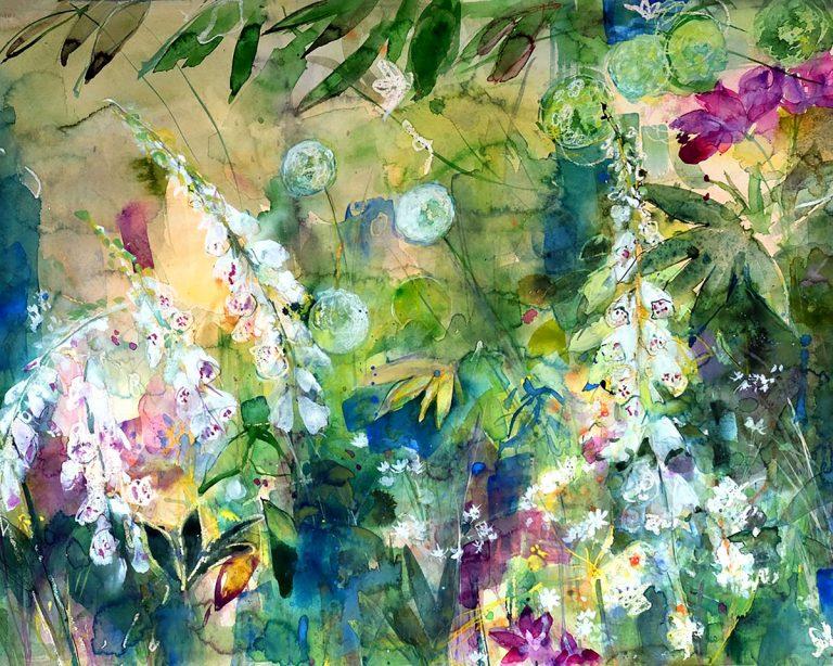 Ann Oram RSW, 'Summer Garden with Soft Light', watercolour