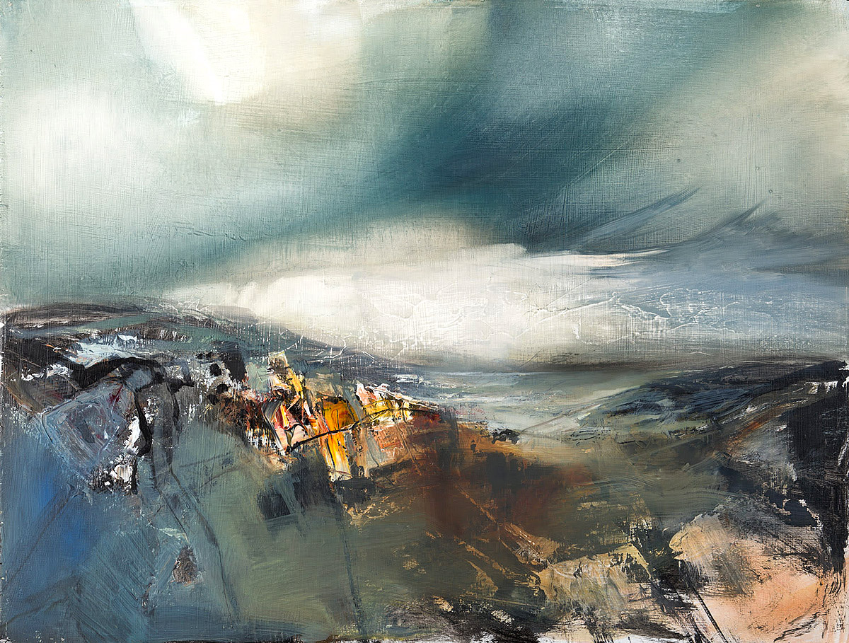 Beth Robertson Fiddes, 'Wild Water, Stoer', mixed media