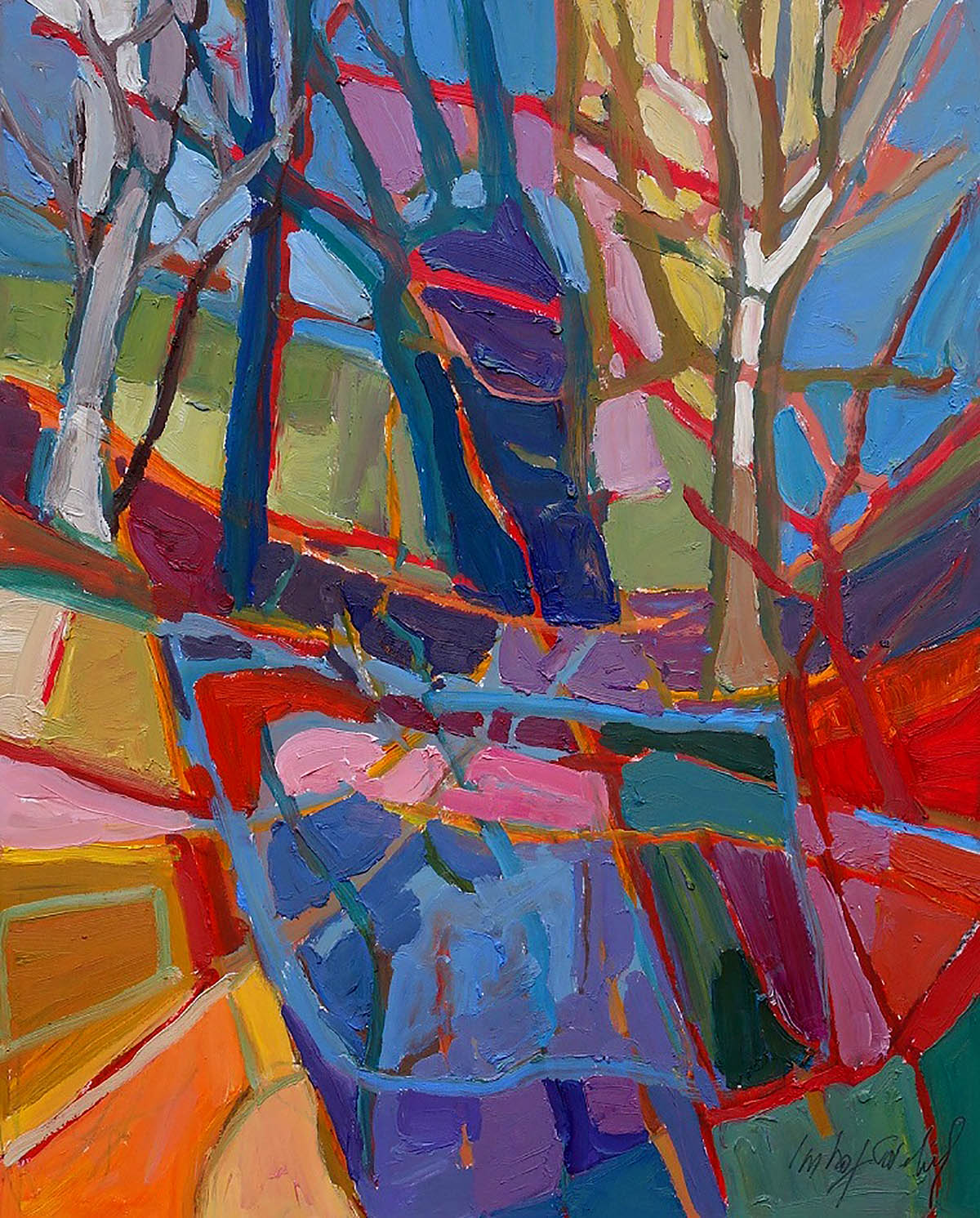 Catherine Imhof Cardinal, 'Wald', oil