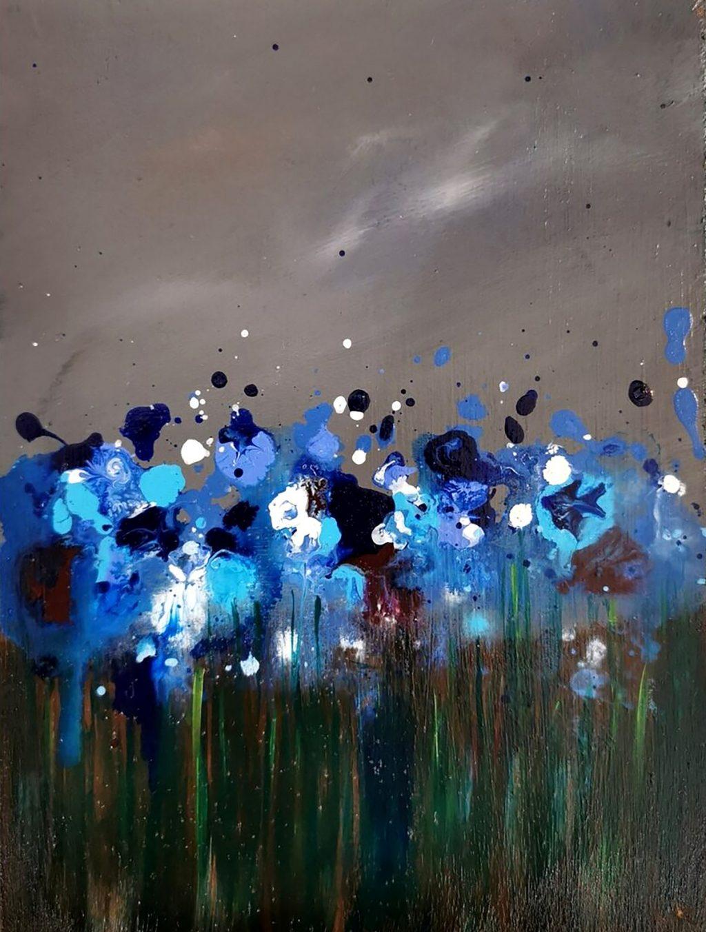 Gill Knight, 'Blueness', acrylic