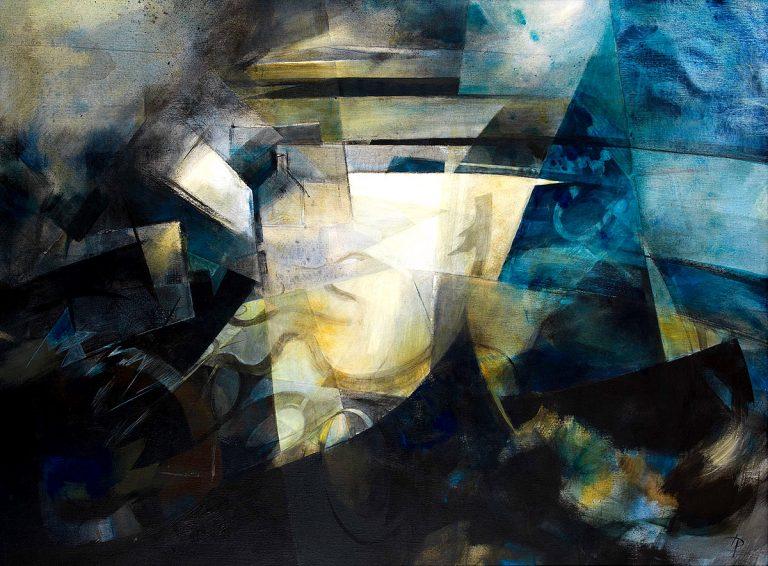 Heather Davies, 'Crail', acrylic on canvas