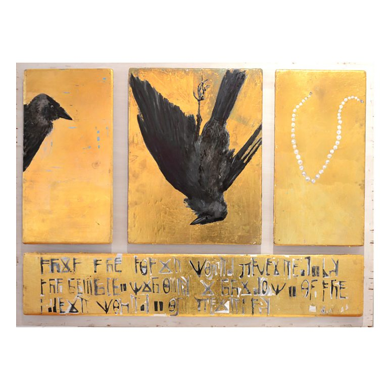 Julie Goring, 'Vanitas', acrylic and gold leaf on gesso panel