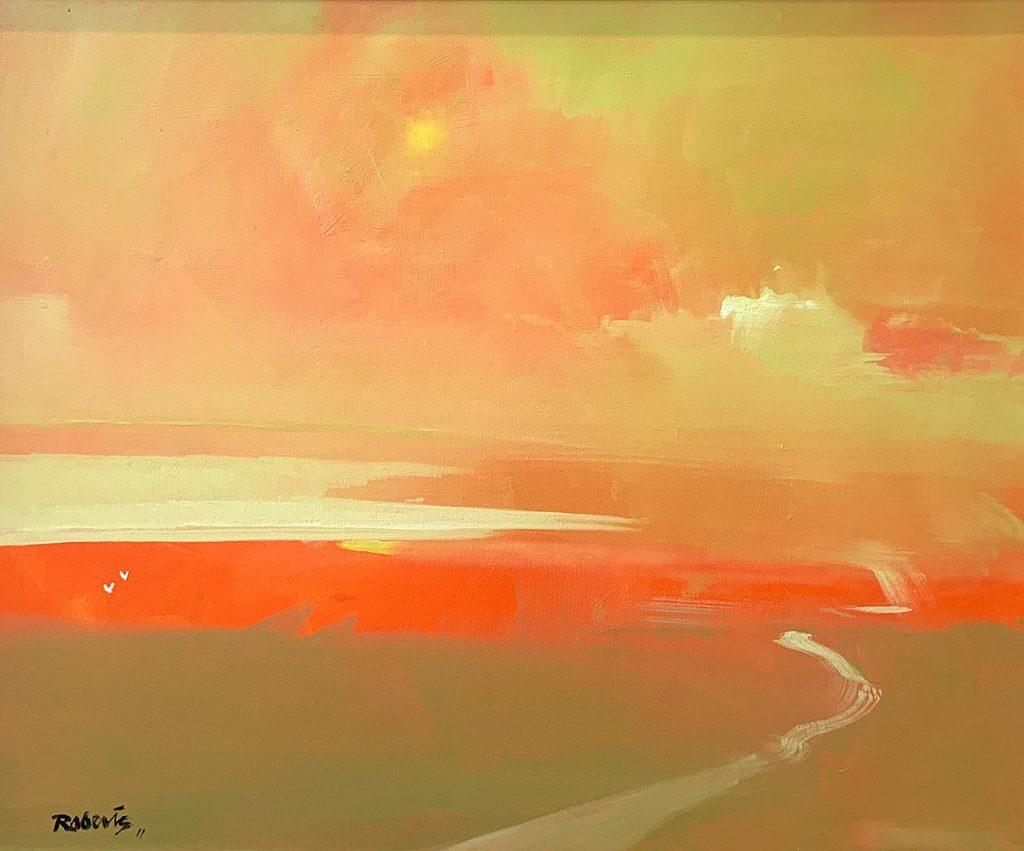 Ken Roberts 'Sunset Haze Over Largo Bay', oil on canvas board