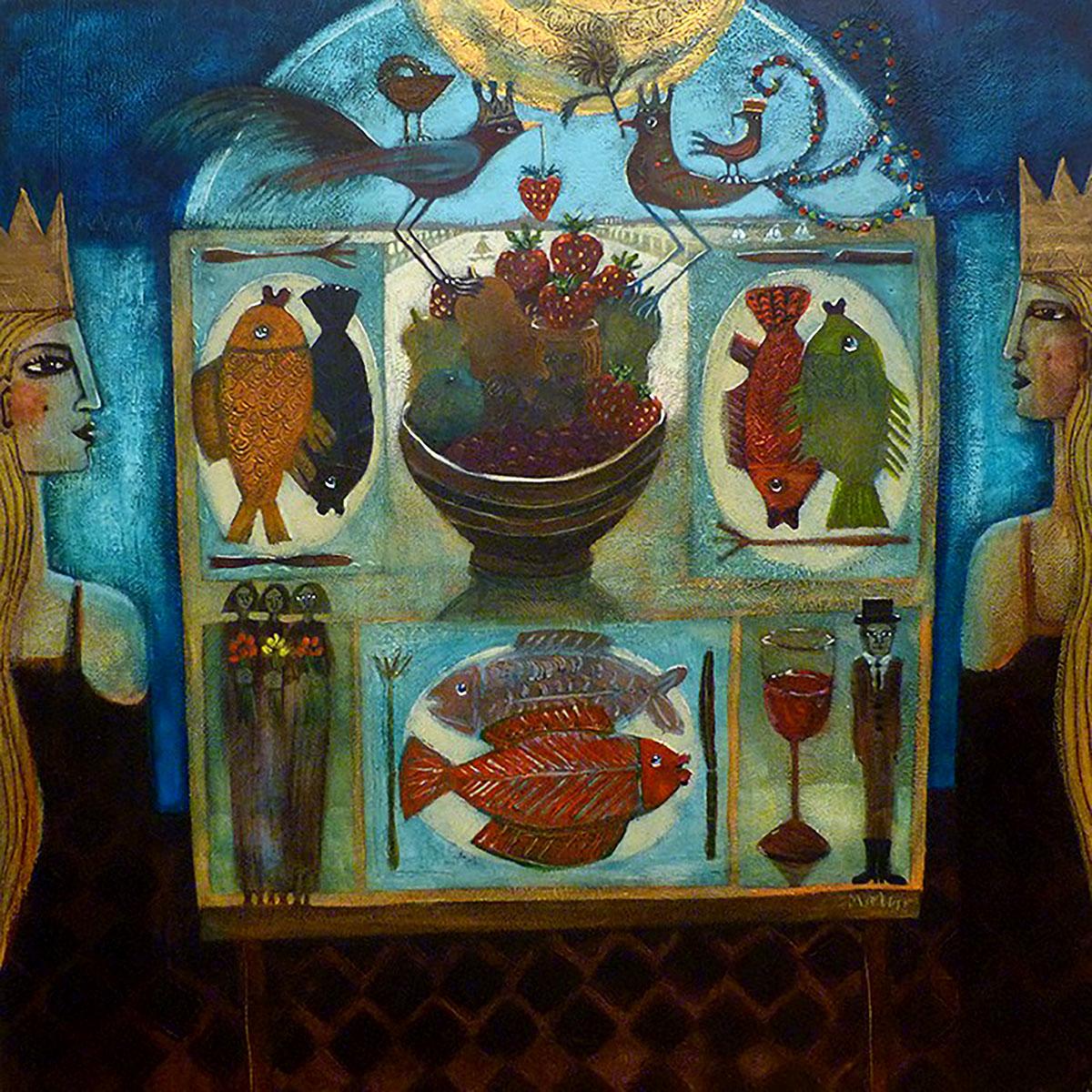 Morag Muir, 'The Window Table', acrylic on board