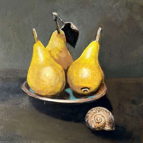 Hugh Bryden, 'Pears', acrylic on panel