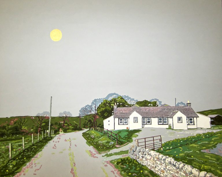 Richard Ross, 'Misty Day (by Torrs Dairy)', acrylic gouache