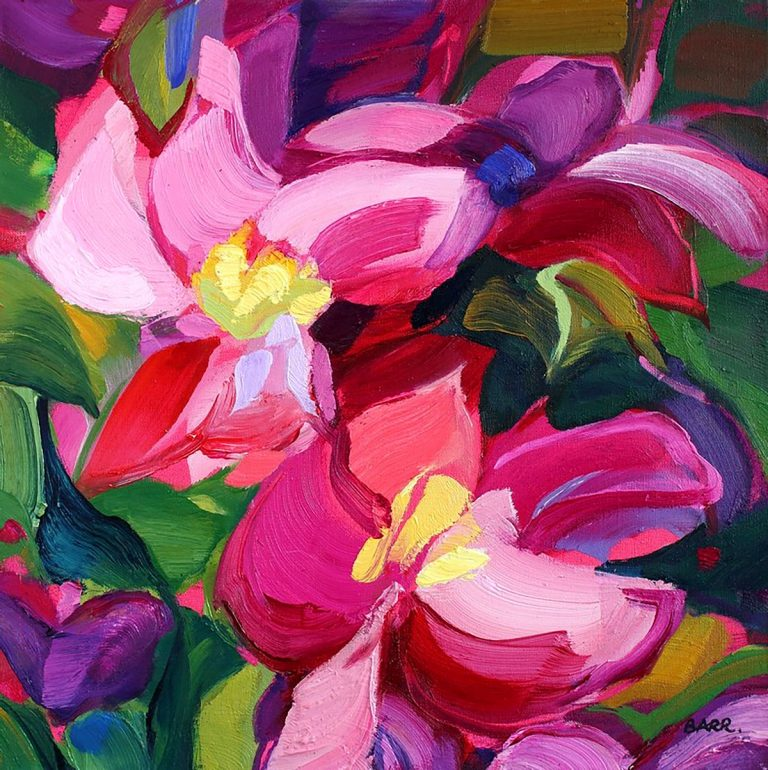 Shona Barr, 'Clematis', oil on canvas