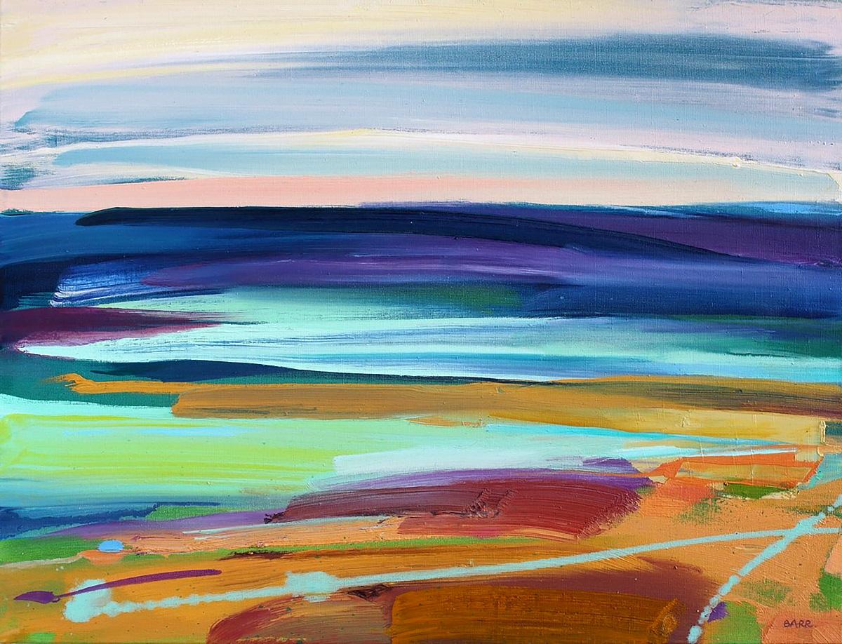 Shona Barr, 'Quiet Sea' oil on canvas
