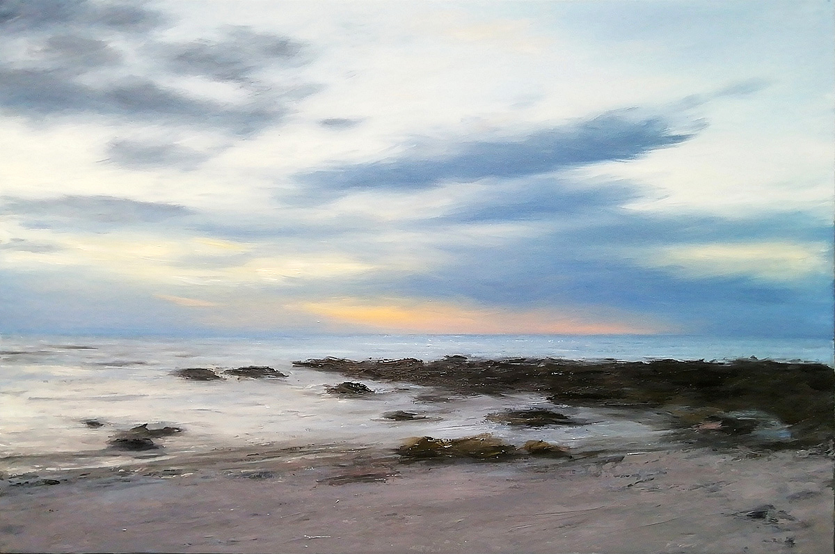 Steven Hood, 'Evening sky, Gamrie bay', oil on canvas