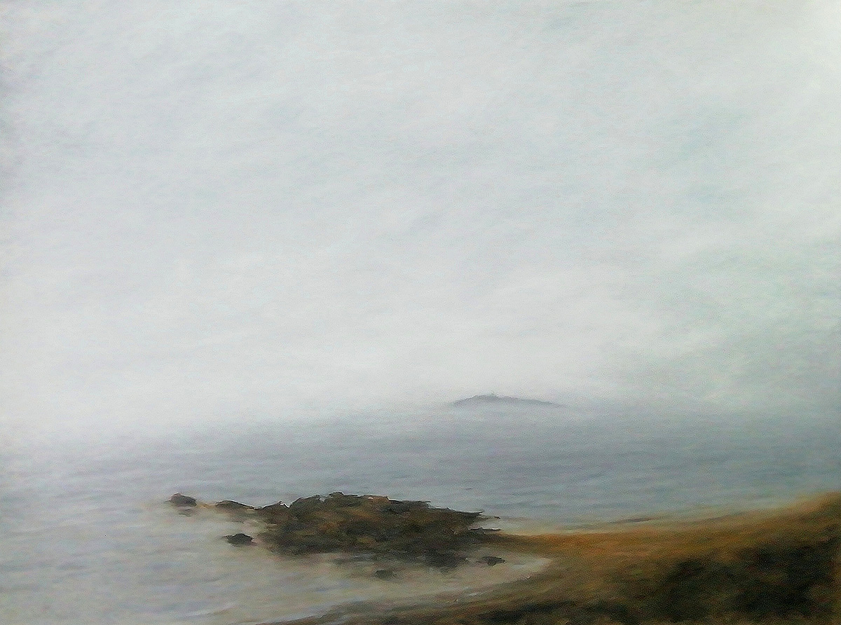 Steven Hood, 'Haar Enveloping Inchkeith Island', oil on canvas