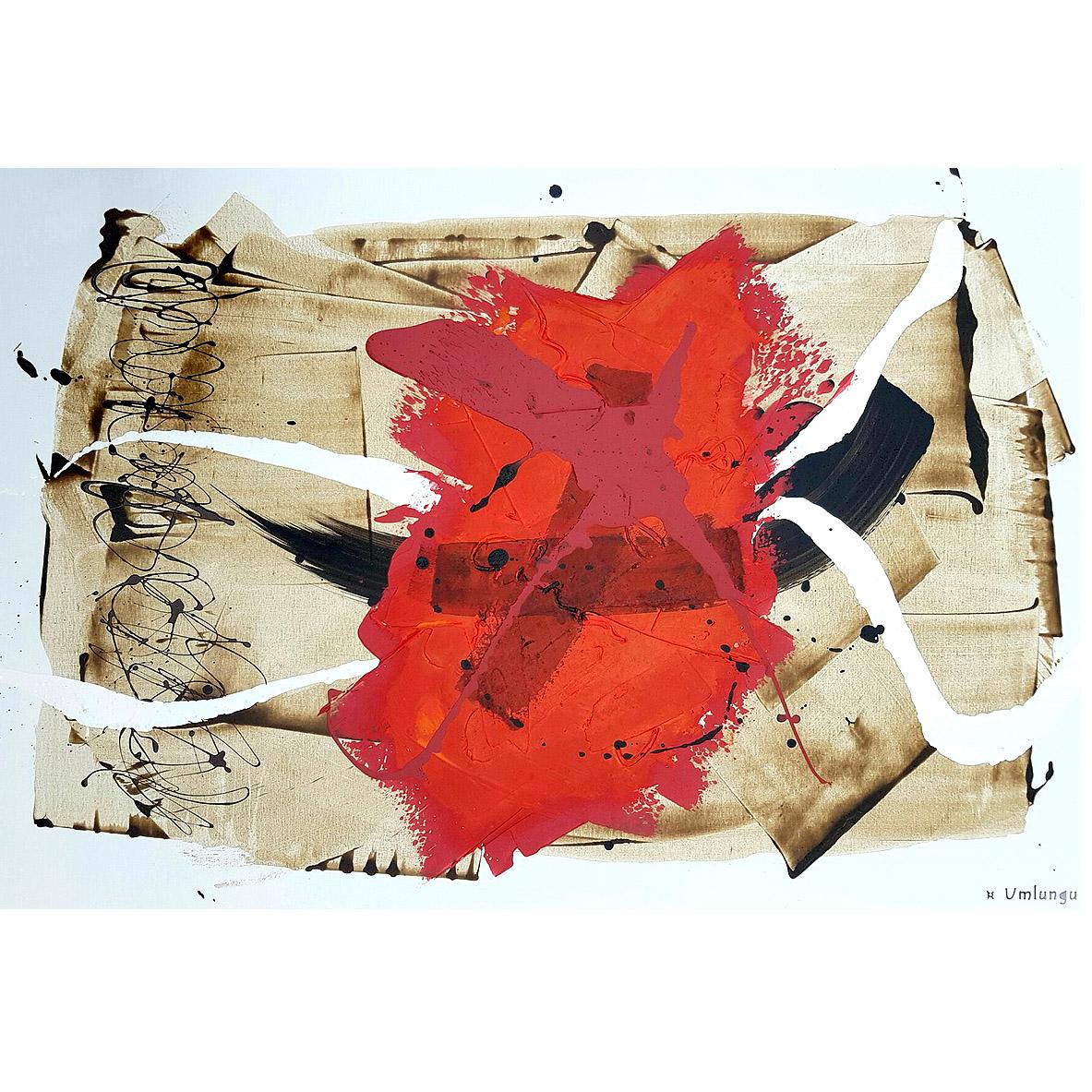 Umlungu, 'I Am Not a Conformist', mixed media on canvas
